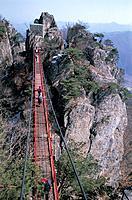 Mountain Climber,Mt. Daedunsan Provincial Park,Wanju,Jeonbuk,Korea