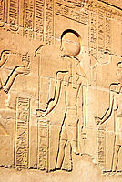 Detail of relief of deities. Egypt