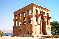 Kiosk of Trajan. Philae Temple. Aswan. Egypt