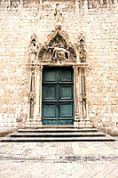 Franciscan church. Fa&#231;ade with the Piety on it. Dubrovnik. Croatia