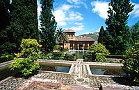 Partal Gardens, Alhambra. Granada. Andalusia, Spain