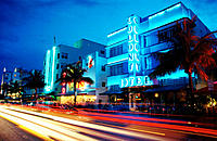 Art Deco Area. Ocean Drive. Miami Beach. Florida. USA