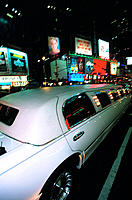 Stretched limo on Broadway. Manhattan. New York City. USA