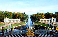 Peterhof Castle and Park. St. Petersburg. Russia
