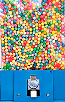 Gumball in a gum machine