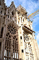 Temple of Sagrada Familia, by Gaudi. Barcelona. Spain