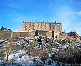 Edinburgh Castle, West side. Edinburgh. Scotland
