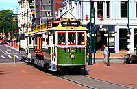 Tram in Christchurch. New Zealand