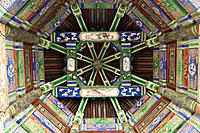 Decorated ceiling of Long Corridor at the Summer Palace. Beijing. China