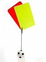 Picture holder with red and yellow cards
