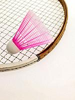 Badminton racquet and shuttlecock