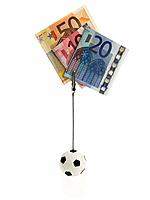 Picture holder with Euro notes