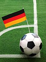 German Flag on Top of Soccer Ball