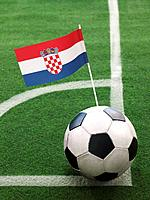 Croatian Flag on Top of Soccer Ball