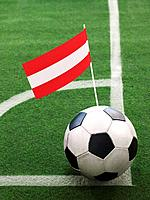 Austrian Flag on Top of Soccer Ball