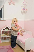 Little girl in her room