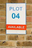 Sign on show home