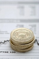 Pound coins on graph