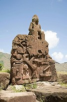 A sculpture on nuku hiva