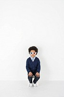 Boy wearing 3D glasses (thumbnail)