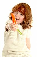 Little girl with a carrot