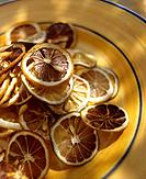 Lemon slices dried