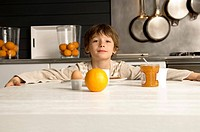 Portrait of a boy having breakfast (thumbnail)
