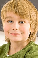 Close_up of a boy smiling