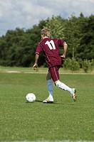 Kicker playing the ball