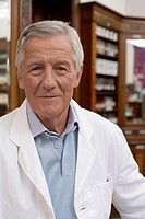 Pharmacist smiling at camera, portrait