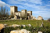 Castle, built 15th century. Ampudia. Palencia province, Spain