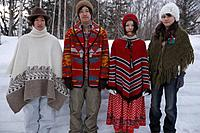 Young people in winter