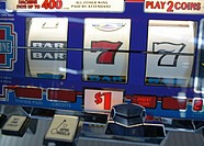 Close_up of a slot machine