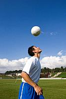 Soccer Player Heading a Ball (thumbnail)