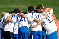 Soccer Team Huddling