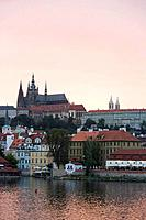 Saint Vitus´s Cathedral, Old Town, Prague, Czech Republic, sunset