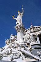 Pallas Athena in front of Austrian Parliament. Vienna. Austria