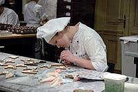 Confectioner in Caf&#233; Demel. Vienna. Austria