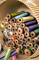 Antique spools of thread