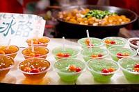 China, Beijing, gelatin snacks in market