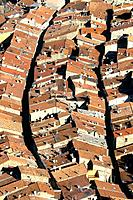 Medieval rooftop houses in the village of Breil-sur-Roya into the Roya valley. Alpes Maritimes, France