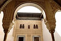 Patio del Mexuar (Court of the Council Chamber), Alhambra, Granada. Andalucia, Spain