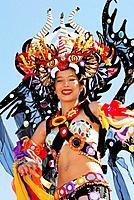Carnival Queen at Panamá city Carnival, Panamá City, Rep.of Panamá, Central America. 2006