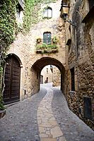Town of Pals  Baix Emporda, Costa Brava, Catalonia, Spain