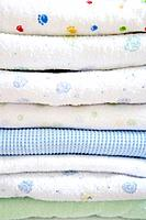 Stack of baby blankets, close_up