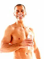 Mature man with glass of water (thumbnail)
