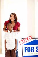 Mother and Son in New House