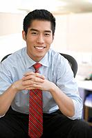 Korean businessman smiling
