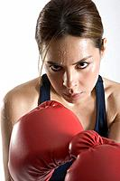 Female boxer, close_up, portrait