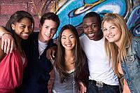 Teenagers posing